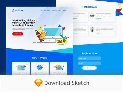Free Event Website Template Sketch Free Download Freebiesjedi Sketch Website Template Free