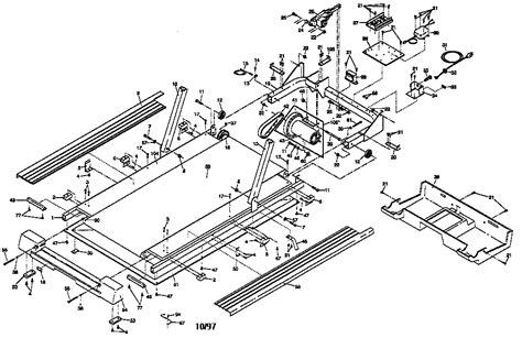 treadmill diagram proform treadmill schematic proform treadmill 831 297980