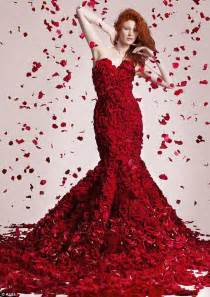 Facts About Carnations red haute couture dress made with 1000 roses grower