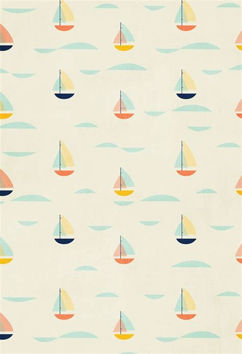 cute nautical pattern sailboat pattern trends color inspiration pinterest