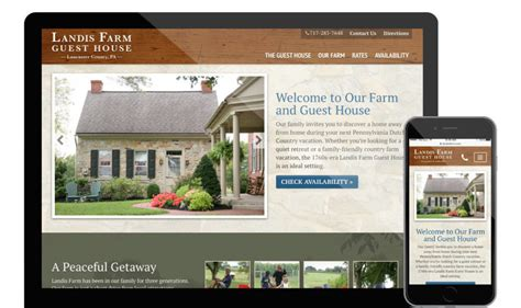 Design Your Home Website New Website For A Local Guest House Yoder Design Co Templates Guest House Website Templates Free