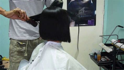 how to blow dry a bob hairstyle youtube blow dry to bob youtube