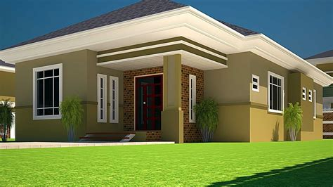 3 Bedroom House Designs Pictures by House Plans Ghana 3 Bedroom House Plan For A Half Plot