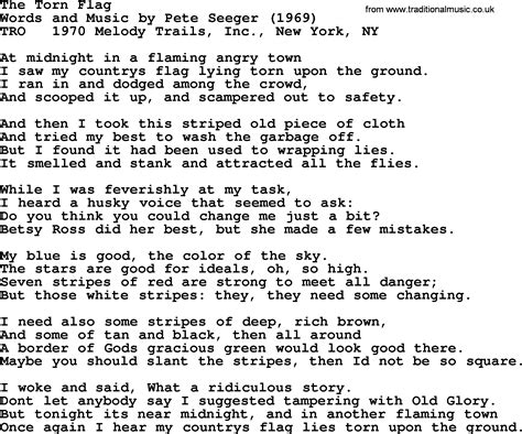 the song pete seeger song the torn flag lyrics