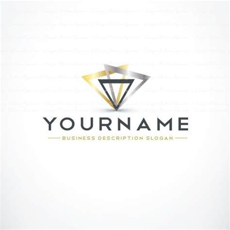 abstract triangles logo template free business card