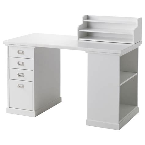 white desk with storage ikea reception desk for minimalist and modern office