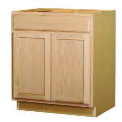shop kitchen classics 35 in x 30 in x 23 75 in unfinished oak sink base cabinet at lowes com - shop kitchen classics 35 in x 18 in x 23 75 in unfinished oak door and drawer base cabinet at