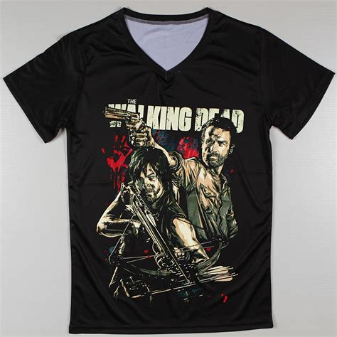 Walking Dead Tees the walking dead printed t shirt v neck sleeve