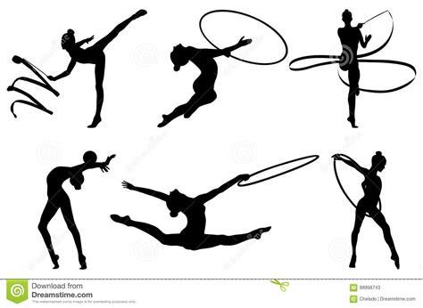 clipart ginnastica ginnastica ritmica stabilita illustrazione vettoriale