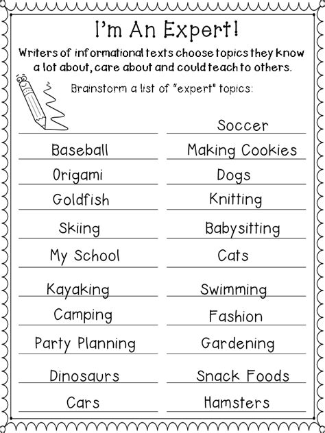 List Of Essay Topics To Write About by Writing Informational Text Step By Step Third Grade Doodles