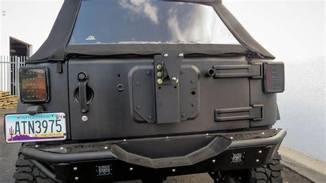jeep tire carrier 2007 2018 jeep jk venom tire mount add offroad the
