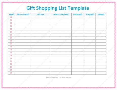 christmas gift list template save word templates memes