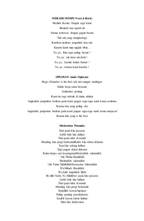 membuat yel yel lagu pramuka yel yel pramuka 2