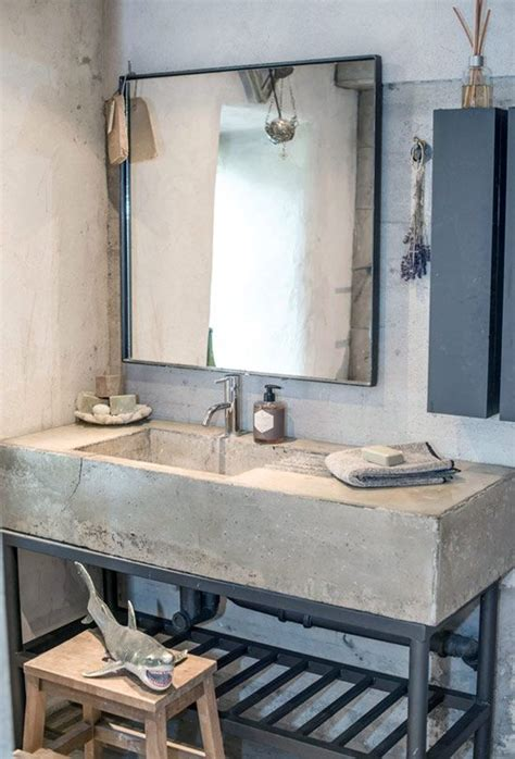 concrete bathroom vanity 32 trendy and chic industrial bathroom vanity ideas digsdigs