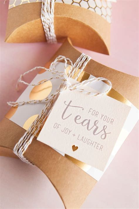 diy idea wedding handkerchief quot happy tears quot gift tags