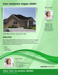 Free Templates For Flyer by Real Estate Flyer Template Green