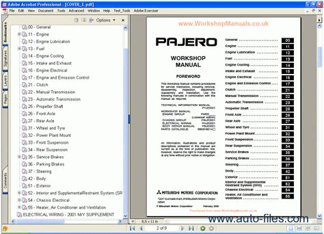 car repair manuals download 1998 mitsubishi pajero engine control mitsubishi pajero workshop manual repair manuals download wiring diagram electronic parts