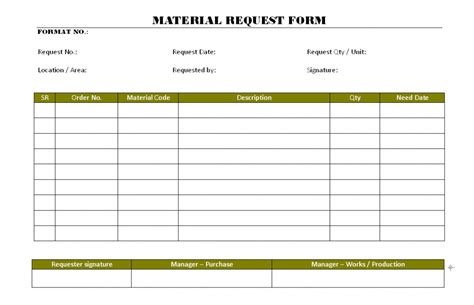 construction material request form template 39 material request form template endowed dreamswebsite