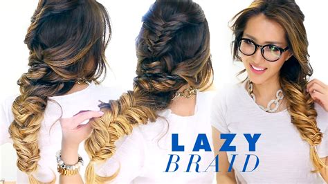 easy go lazy girl hairstyles that make you look awesome lazy girl s french fishtail braid hairstyle cute school