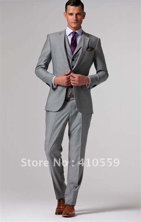Handmade Mens Suits - wholesales free shipping fresh wool suit custom made