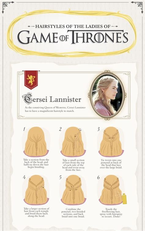 diy hairstyles games cersei lannister s hairstyle do it yourself the rest of
