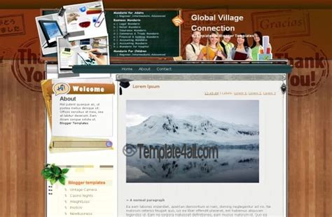 templates blogger school school education wood blogger layout download
