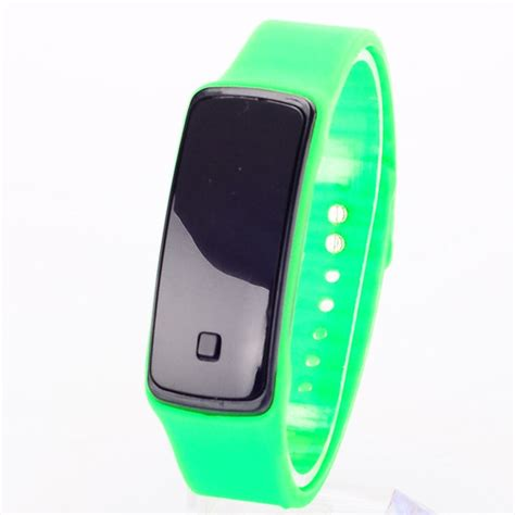 digital silicone wrist led sport unisex thin