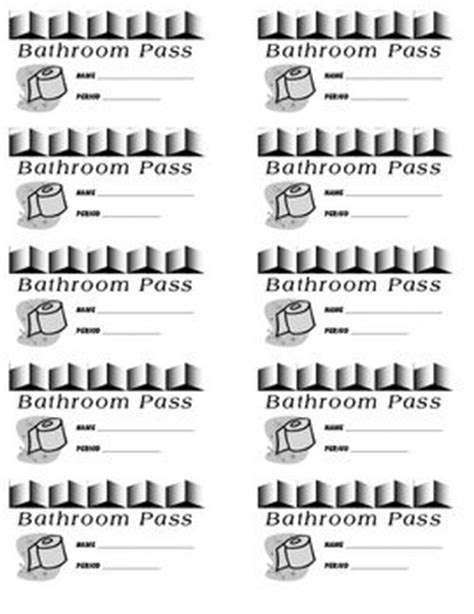 bathroom pass template high school end of student and the o jays on
