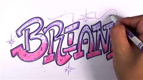 graffiti writing briana  design    names