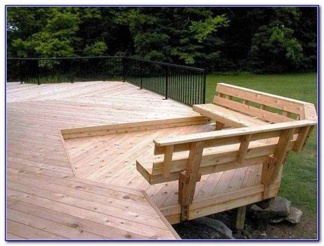 deck railing with bench seating 17 best ideas about deck benches on pinterest deck bench