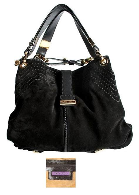 Jimmy Choo Alex Purse by Jimmy Choo Alex Black Suede Snake Hobo Bag Tradesy