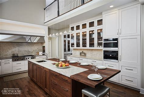 walnut kitchen island finished walnut countertop designed by trukitchens
