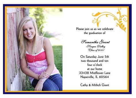senior announcement templates senior graduation invitations template best template
