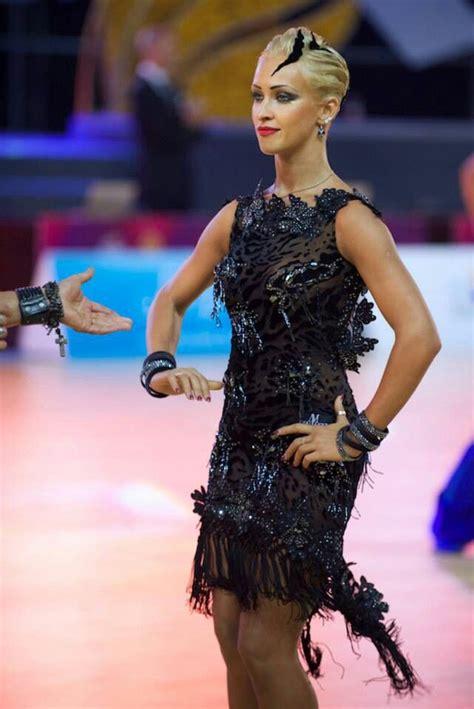 ballroom dancing short hair kristina moshenskaya ballroom dance dresses pinterest