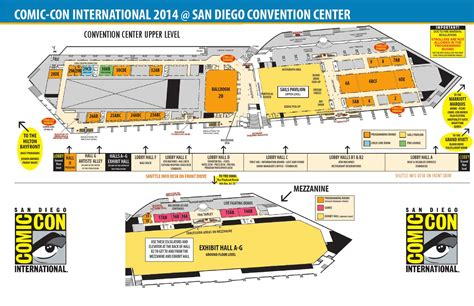 san diego convention center map comic con international 2014 maps by comic con