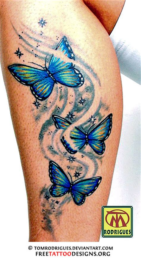 butterfly leg tattoos 60 butterfly tattoos feminine and tribal butterfly