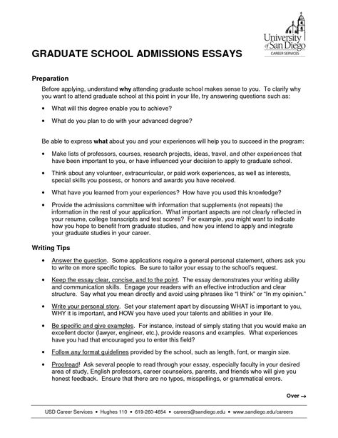 Entrance Essays School by Graduate Entrance Essay Masters Admissions Essay Sle