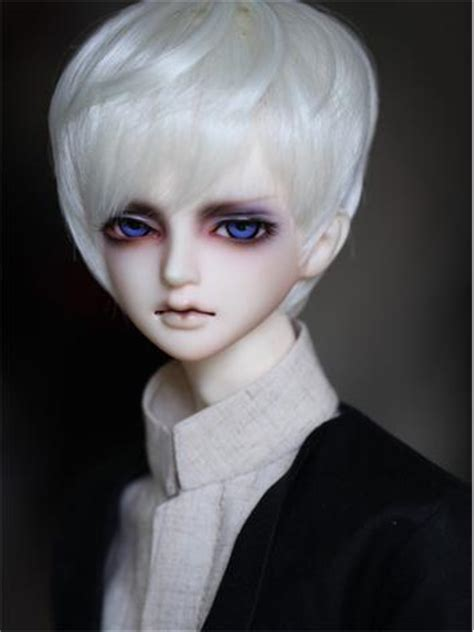jointed doll white hair bjd doll raymond jointed doll dollzone head doll