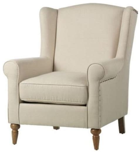 traditional armchair collins wing back chair traditional armchairs and accent chairs by home