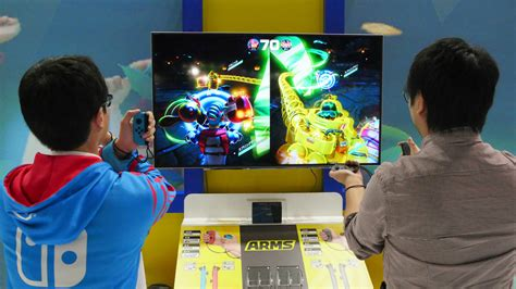 Nintendo Switch Arms 伸縮自在の拳を使って戦うnintendo switchの爽快格闘スポーツゲーム arms をプレイ gigazine