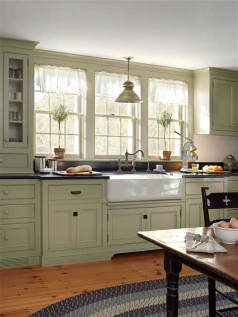 Grey Green Kitchen Cabinets Farmhouse Addition On Pinterest Microwave Storage Southern Home Plans And Modern Farmhouse Plans