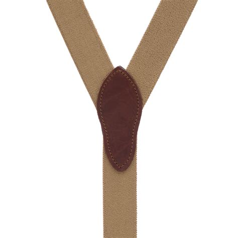 comfortable suspenders desert brown rugged comfort button suspenders suspenderstore