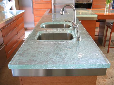 Glass Kitchen Countertops Glass Countertop Is The Trend To Hit The Kitchen And Bath Market Says Thinkglass