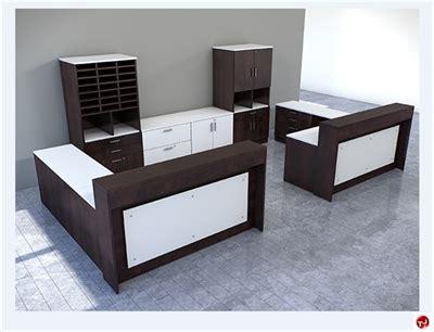2 person reception desk the office leader peblo custom 2 person l shape reception