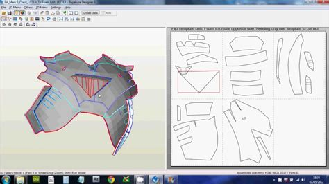 iron suit template 1 downloading scaling printing files foam pepakura