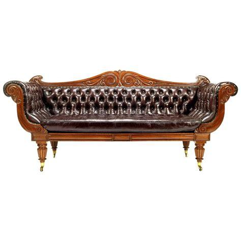 regency leather sofa regency mahogany leather sofa for sale at 1stdibs
