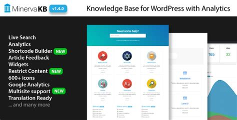 Minervakb V1 4 4 Knowledge Base For With Analytics free minervakb v1 4 1 knowledge base plugin for
