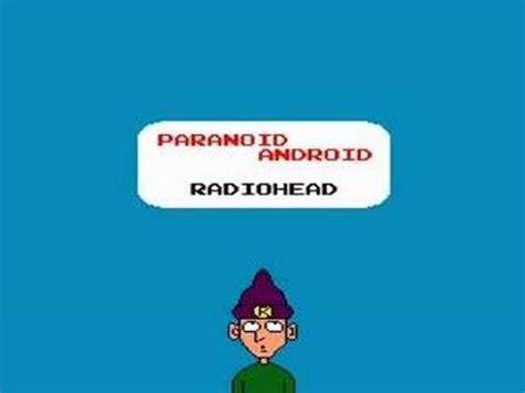paranoid android radiohead radiohead paranoid android 8bit sound