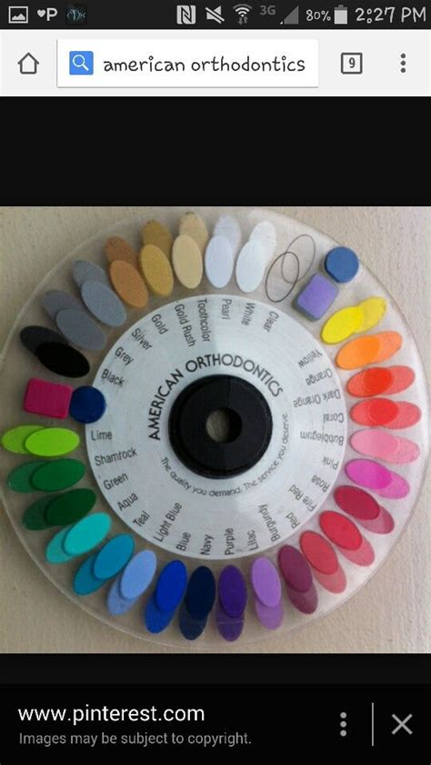 25 best ideas about braces color wheel on