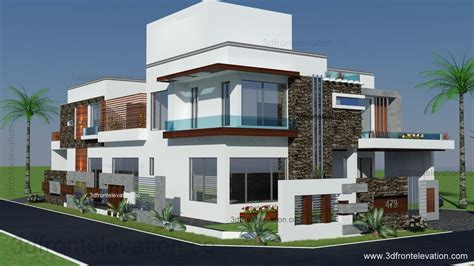3d front elevation com 500 square meter modern front elevation com 500 square yards house plan 3d